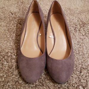 Merona Gray Wedge Heels!